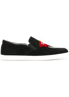 Armani flocked floral skate shoes
