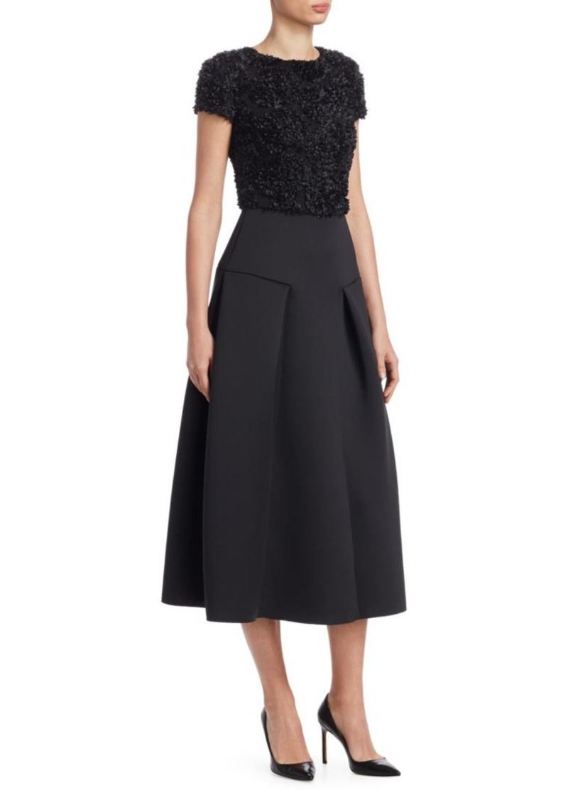 Armani Floral Applique A-Line Dress