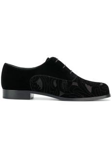 Armani floral cut-out lace-up shoes