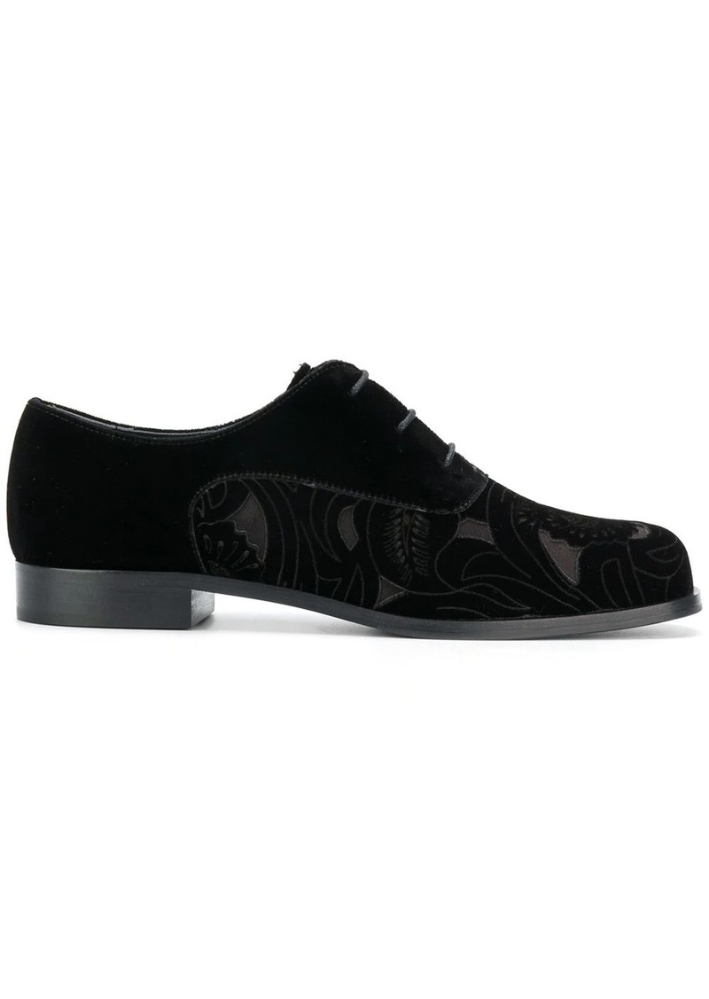 Armani floral cut-out lace-up shoes