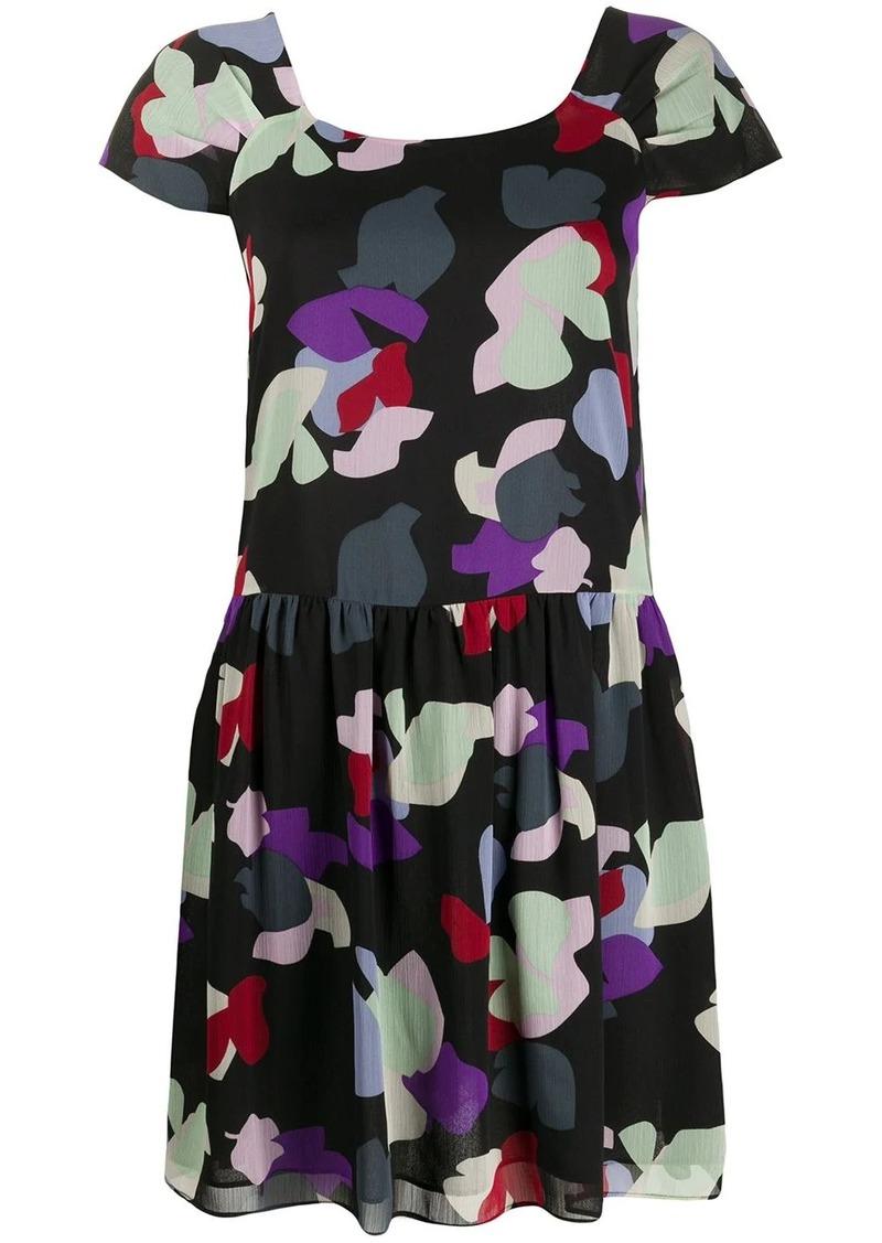 Armani floral print mini dress