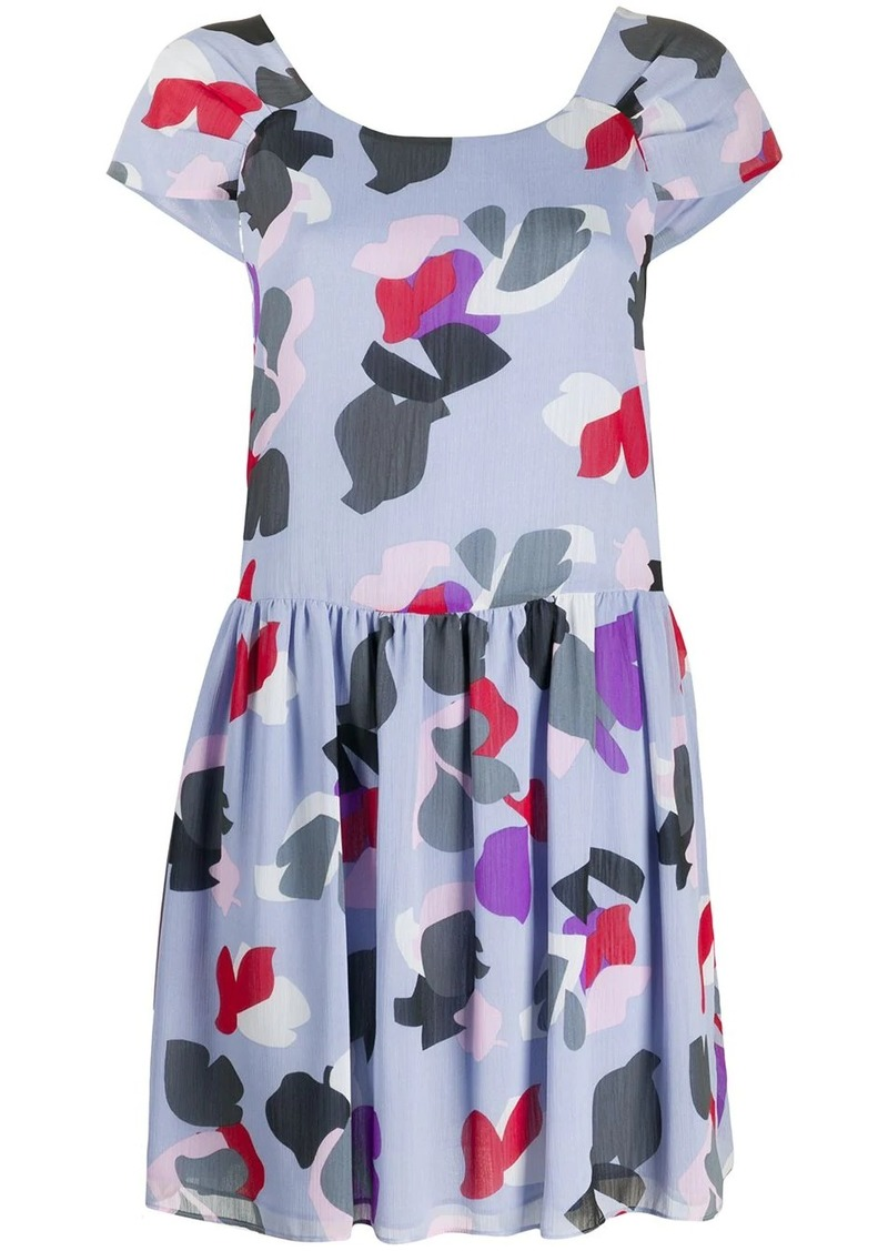 Armani floral printed mini dress