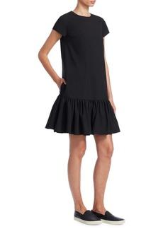 Armani Flounce Hem Sheath Dress