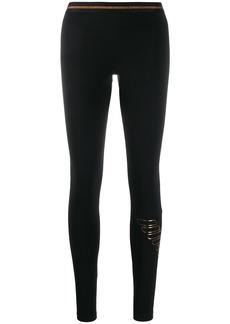 Armani foil logo print leggings