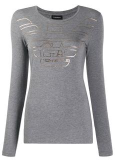 Armani foil logo print T-shirt