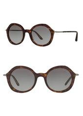 Armani Frames of Life 48mm Round Sunglasses
