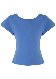 Armani frilled short-sleeved blouse