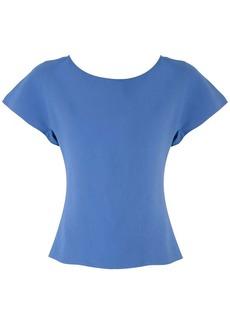 Armani frilled short-sleeved blouse