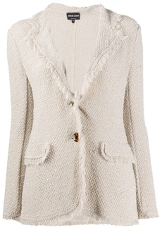 Armani fringed fitted blazer
