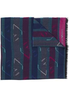 Armani fringed striped scarf