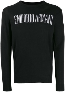 Armani front logo jumper