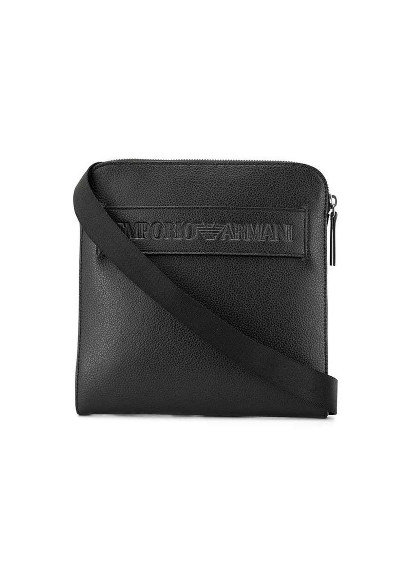 Armani front logo shoulder bag