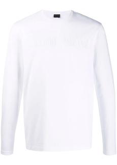 Armani front logo sweatshirt