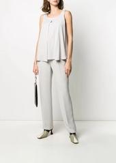 Armani front pleat blouse