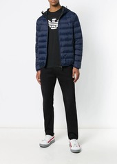 Armani front zip padded jacket