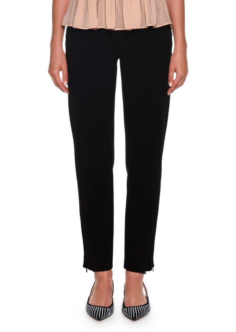 Armani Full-Leg Linen-Blend Pants