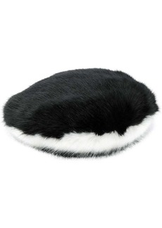 Armani furry two-toned hat