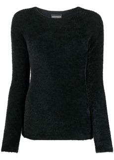 Armani fuzzy texture crew neck jumper
