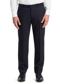 Armani G Line Tonal Stripe Stretch Wool Pants