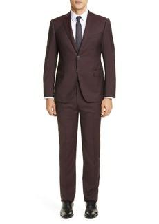 Armani G Line Trim Fit Solid Wool Suit