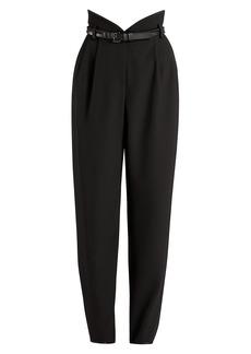 Armani Gabardine High-Waisted Trousers