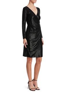 Armani Gathered Lurex A-Line Dress