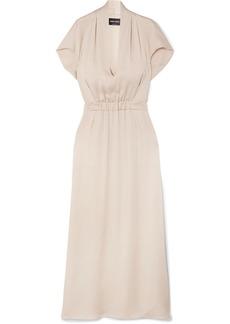 Armani Gathered Silk Gown
