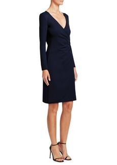 Armani Gathered V-Neck Dress