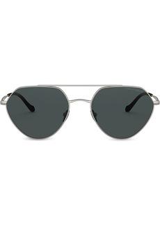 Armani geometric aviator sunglasses