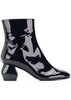 Armani geometric heel ankle boots