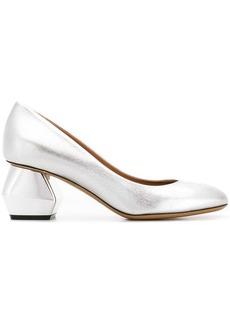 Armani geometric heel pumps