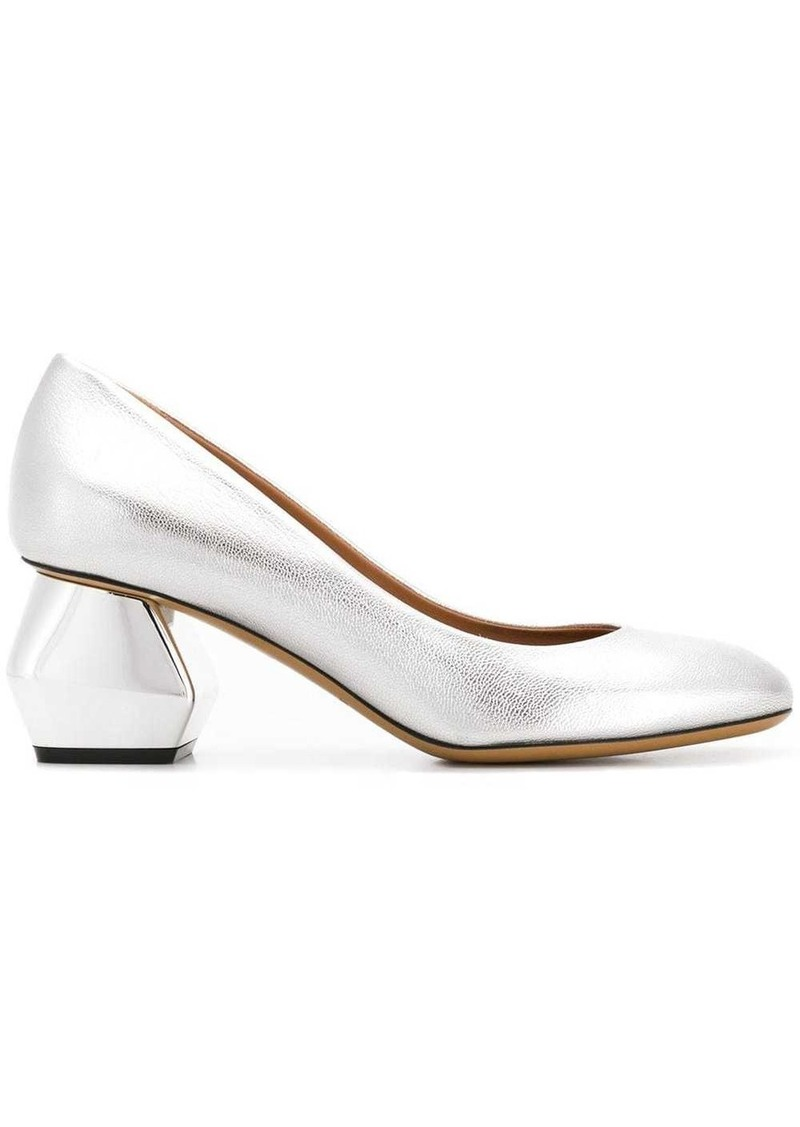 Armani geometric heel pumps