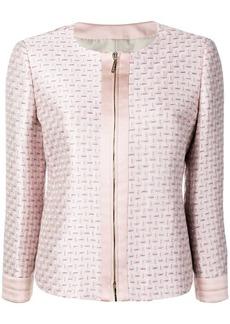 Armani geometric jacquard jacket