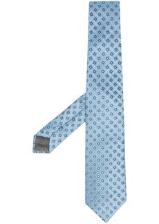 Armani geometric jacquard silk tie