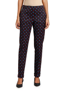 Armani Geometric Jacquard Tapered-Leg Pants