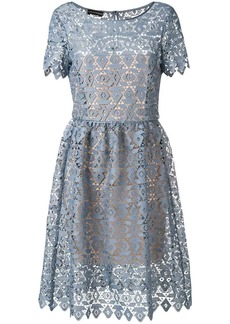 Armani geometric macramé dress