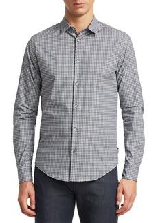 Armani Geometric Medallion Cotton Shirt