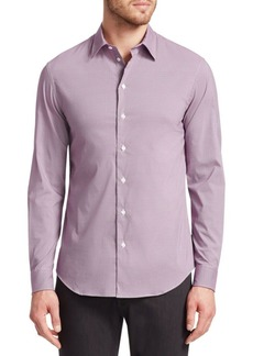 Armani Geometric Pattern Button-Down Shirt