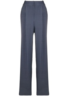 Armani geometric-pattern high-rise trousers