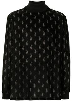 Armani geometric pattern rib-trimmed sweatshirt