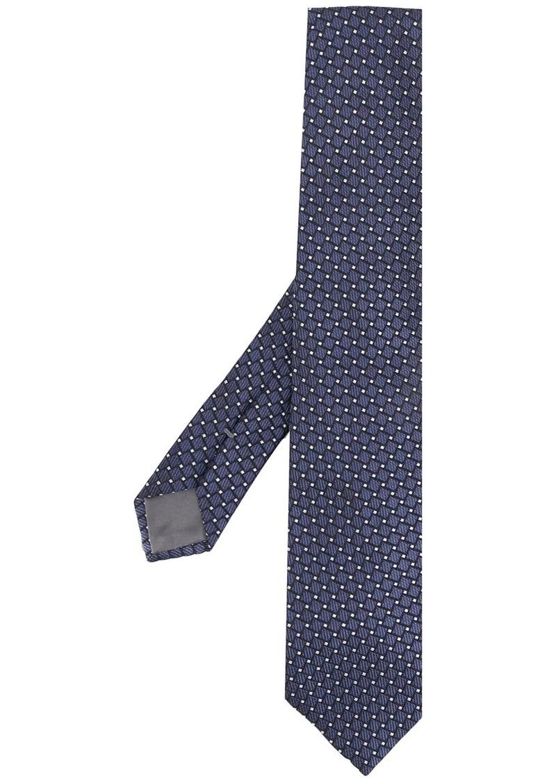 Armani geometric-pattern silk tie