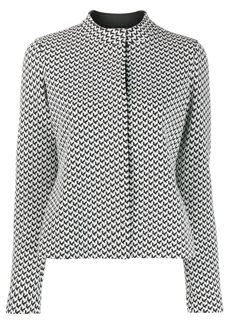 Armani geometric pattern top