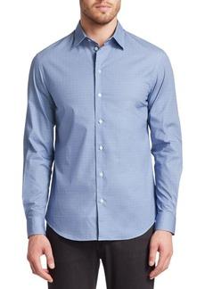 Armani Geometric Print Button-Down Shirt