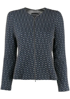 Armani geometric print fitted jacket
