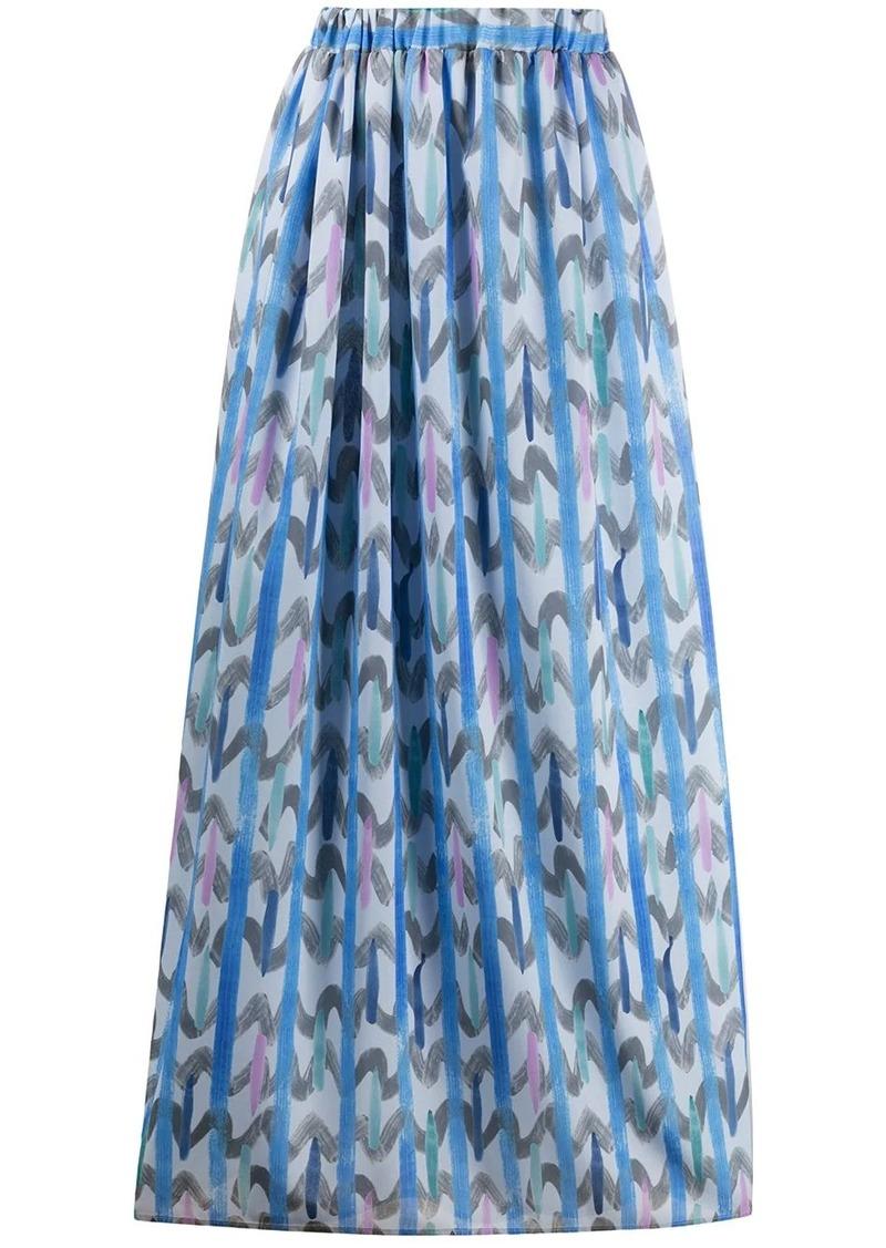 Armani geometric print maxi skirt