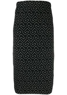 Armani geometric print pencil skirt