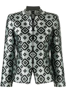 Armani geometric print tailored jacket