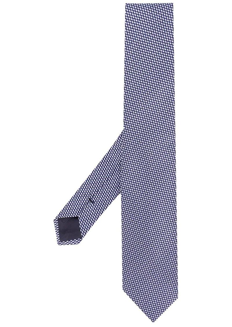 Armani geometric woven tie