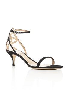 Giorgio Armani Ankle Strap Low Heel Sandals