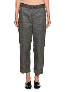 Armani Belted Metallic Cropped Utility Pants